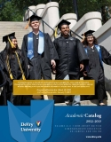 Academic Catalog  2012–2013: NEW JERSEY EDITION UNDERGRADUATE EDUCATION ON CAMPUS AND ONLINE