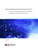 Next Generation Connectivity: A review of broadband Internet transitions and policy from around the world