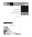 Marketing Management, Millenium Edition by Philip Kotler