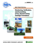 BEST PRACTICES for: Monitoring, Verifi cation, and Accounting of CO2 Stored in Deep Geologic Formations