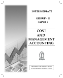 INTERMEDIATE GROUP - II PAPER 8: COST MANAGEMENT ACCOUNTING