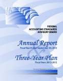 FASAB Annual Report For Fiscal Year Ended September 30, 2012