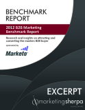 2012 B2B Marketing Benchmark Report - Research and insights on attracting and converting the modern B2B buyer