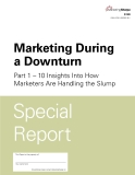 MARKETING DURING A DOWNTURN: INSIGHTS INTO HOW MARKETERS ARE HANDLING THE SLUMP