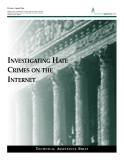 INVESTIGATING HATE CRIMES ON THE INTERNET