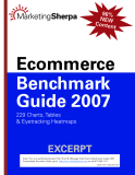 ECOMMERCE BENCHMARK GUIDE 2007