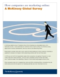 HOW COMPANIES ARE MARKETING ONLINE: A MCKINSEY GLOBAL SURVEY