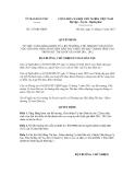 Quyết định số 333/QĐ-UBDT