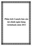 Phân tích Camels báo cáo tài chính ngân hàng vietinbank năm 2011