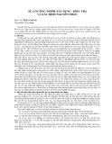 BÁO CÁO KHOA HỌC : SỰ CỐ CÔNG TRÌNH XÂY DỰNG - ĐIỀU TRA VÀ XÁC ĐỊNH NGUYÊN NHÂN