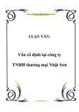 LUẬN VĂN:  Vốn cố định tại công ty TNHH thương mại Nhật Sơn