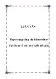 LUẬN VĂN:  Thực trạng công tác kiểm toán ở Việt Nam và một số ý kiến đề xuất