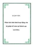 LUẬN VĂN:  Phân tích tình hình hoạt động của bộ phận kế toán tại khách sạn GUOMA