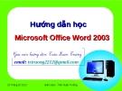 Hướng dẫn Microsoft Word 2003