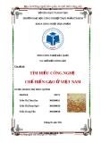 Tiểu luận: Tìm hiểu công nghệ chế biến gạo ở Việt Nam