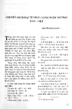 Báo cáo khoa học: Chuyển dịch đại từ nhân xưng ngôi thứ hai Hán- Việt