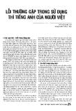 Báo cáo khoa học:Lỗi thường gặp trong sử dụng thì tiếng Anh của người Việt
