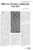 Báo cáo khoa học: NHÌN LẠI VĂN HỌC  CAMPUCHIA SAU 1993