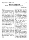 Báo cáo khoa học: Phân tích phong cách trong dịch thuật văn bản khoa học