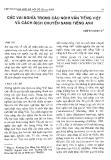 Báo cáo khoa học:Các vai trò nghĩa trong câu nghi vấn tiếng Việt và cách dịch chuyển sang tiếng Anh