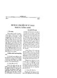 Báo cáo khoa học:Hướng chuyển di từ loại trong tiếng Anh