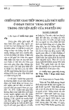 Báo cáo khoa học: Chiến lược giao tiếp trong lời Thúy Kiều ở đoạn trích Trao duyên trong Truyện Kiều của Nguyễn Du