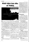 Báo cáo khoa học:Khái niệm ban đầu về TOEIC