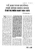 Báo cáo khoa học: Về khuynh hướng phê bình hiện sinh ở đô thị miền Nam 1954- 1975