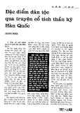 Báo cáo khoa học: Đặc điểm dân tộc qua truyện cổ tích thần kỳ Hàn Quốc