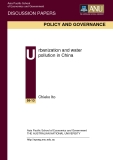 Urbanization and water  pollution in China: Chieko Ito
