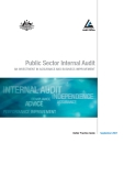 Public Sector Internal Audit An InveStment In ASSurAnce And BuSIneSS ImProvement