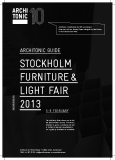 ARCHITONIC guide stockho lm Furniture& Light Fair 2013
