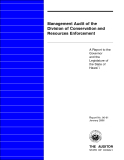 Management Audit of the Division of Conservation and Resources Enforcement