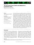 Báo cáo khoa học:  The heat shock factor family and adaptation to proteotoxic stress