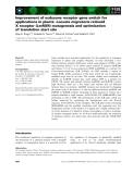Báo cáo khoa học: Improvement of ecdysone receptor gene switch for applications in plants: Locusta migratoria retinoid X receptor (LmRXR) mutagenesis and optimization of translation start site