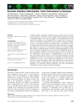 Báo cáo khoa học: Enzyme kinetics informatics: from instrument to browser