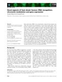 Báo cáo khoa học: Novel aspects of heat shock factors: DNA recognition, chromatin modulation and gene expression