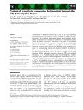 Báo cáo khoa học: Control of transferrin expression by b-amyloid through the CP2 transcription factor