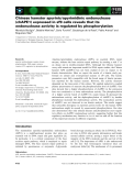 Báo cáo khoa học: Chinese hamster apurinic⁄apyrimidinic endonuclease (chAPE1) expressed in sf9 cells reveals that its endonuclease activity is regulated by phosphorylation