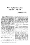 Báo cáo khoa học :Thúc đẩy hợp tác du lịch Việt Nam-Thái Lan