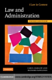 Sách Law and Administration Third Edition