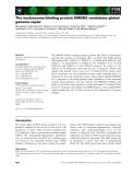Báo cáo khoa học: The nucleosome-binding protein HMGN2 modulates global genome repair