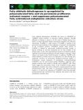 Báo cáo khoa học: Fatty aldehyde dehydrogenase is up-regulated by polyunsaturated fatty acid via peroxisome proliferatoractivated receptor a and suppresses polyunsaturated fatty acid-induced endoplasmic reticulum stress