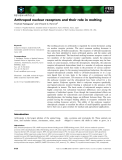 Báo cáo khoa học: Arthropod nuclear receptors and their role in molting