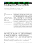 Báo cáo khoa học: In vitro characterization of Synechocystis CYP120A1 revealed the first nonanimal retinoic acid hydroxylase