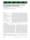 Báo cáo khoa học: Donor and acceptor substrate selectivity among plant glycoside hydrolase family 32 enzymes