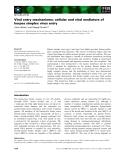 Báo cáo khoa học: Viral entry mechanisms: cellular and viral mediators of herpes simplex virus entry