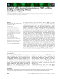 Báo cáo khoa học: Effect of siRNA terminal mismatches on TRBP and Dicer binding and silencing efficacy