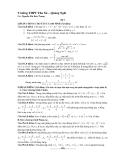 Đề thi thử đại học môn toán - 2013