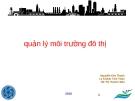 Quản lý môi trường đô thị